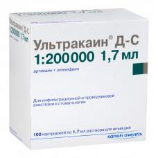 Ультракаин ДС карп.1,7мл.№100 (200 000)